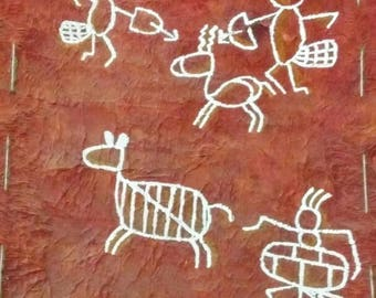 Antique tribal painting