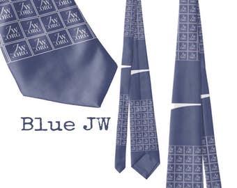 JW.ORG Blue necktie. Custom design.**Sale**