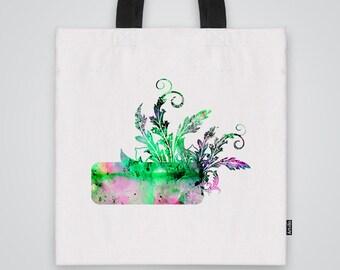 Leafs Tote Bag Shoulder Market Bag Art Print