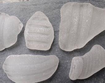 Textured White Seaglass