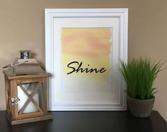 Shine--digital print