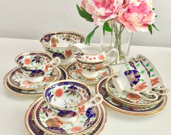 Stunning tea set for 4, early Shelley, Ashbourne 1912