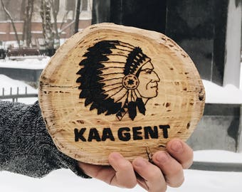 KAA GENT Logo Wood Burning