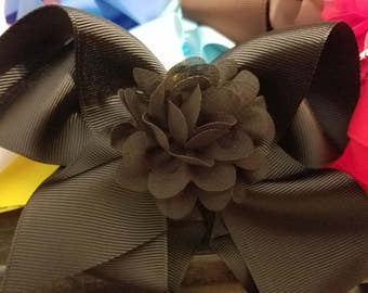Handmade Hair Bows With Alligator Clips With Small Flowers With Alligator Clips