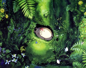 Totoro art design animal kingdom poster home decoration wall rom decoration canvas poster