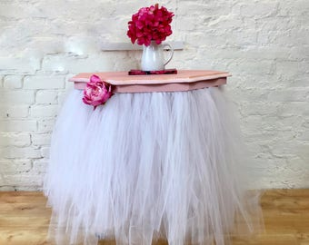 Pink and white TuTu table - cake table - lamp table