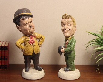 A Vintage Pair of Stan Laurel and OliverHardy Statues
