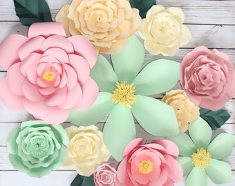 Paper Flower BackDrop, Large Paper Flower, Wall Decor, Spring Paper Flower, Nursery Decor, Wedding Decor, Bridal Shower Decor, Rose Wall