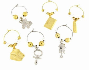 Baby Shower Drink Charms, Wine Glass Charms