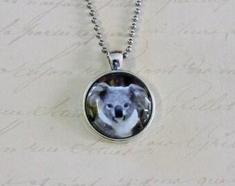 Cute Koala silver pendant