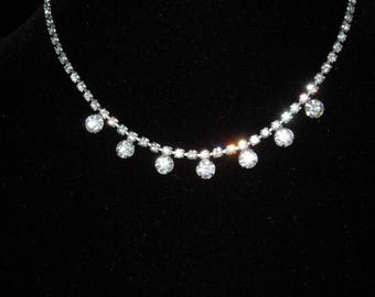 Necklace Vintage Rhinestone