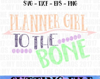 SVG File/ Cutting File/  Planner Girl Cut File/ Cut File for Silhouette / cut file for cricut / Planner svg/ Planner cutting file/ funny svg