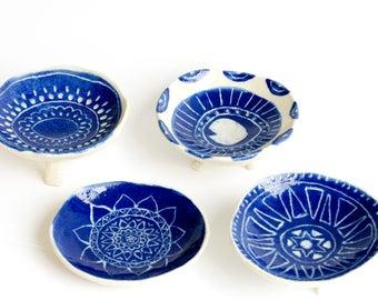 Itty Bitty Trinket Dishes - Ring Dish - Salt Dish - Footed dish - Handmade
