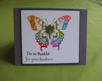 Handmade Thank You Card -  Butterfly