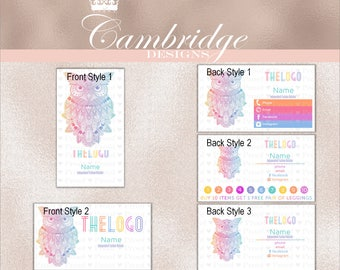 Owl Inspired By LuLaRoe Business Cards - Home Office Approved Fonts and Colors Business Card, Digital