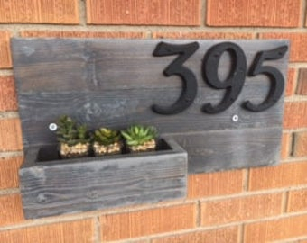 Rustic Barn Wood Address Sign