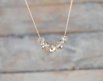 Necklace.  Swarowsky crystal. Gift. Fashion. Jewelry. Boho.