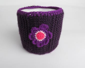 Case for a cup with flower