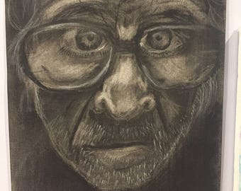 Old Man - Charcoal Drawing