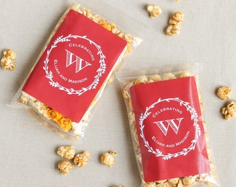 Personalized Caramel Corn Favor