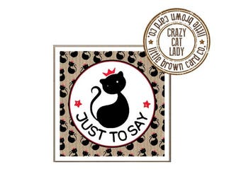 5 Pack Crazy Cat Lady Greetings Cards/Notecards/Gift Cards