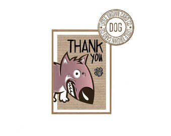 10 Pack Mini Thank you Cards with Envelopes - Dog