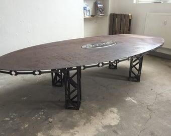 Besprechnungstisch ship steel, custom made, special piece