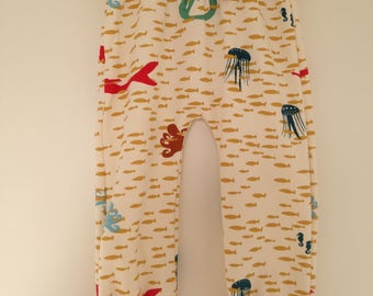 Soft trousers, ocean theme, size 92/18-24 months