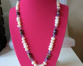 Glass Starfish Beaded Necklace