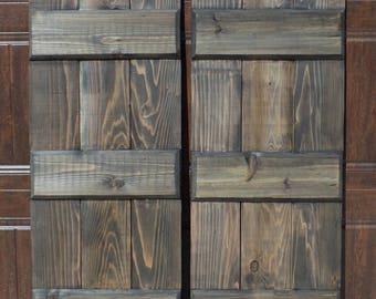 Board and Batten Shutters - Cedar Shutters - Wood Exterior Shutters