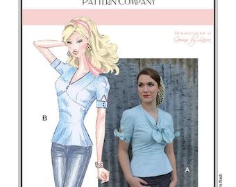 Sew Chic Vintage Style Blouse Pattern Ehlen  #LN1313
