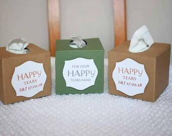 Happy Tears Tissue Boxes ANY COLOUR/S