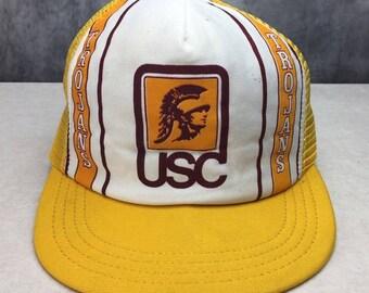 University of Southern California DEADSTOCK Adjustable USC VINTAGE Hat Cap Trojans Los Angeles