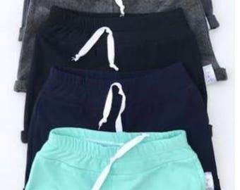 Faux drawstring shorts