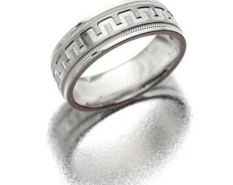 Tungsten Carbide - White wedding band 3