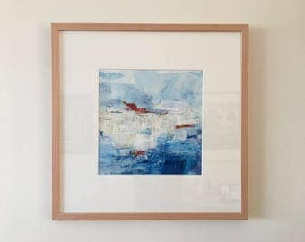 Ice II   Original abstract acrylic painting   50x50 cm