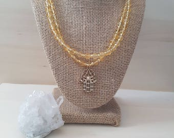 SALE!Hamsa necklace statement necklace pendant necklace