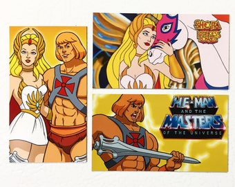 He-Man and She-Ra Magnet Set (3 magnets) 1980s cartoons