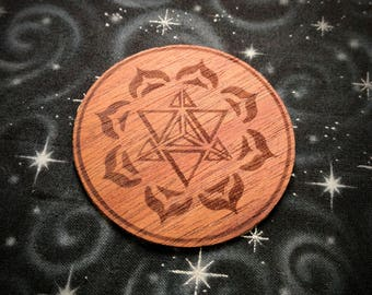 Merkaba Wooden Stickers Sacred Geometry