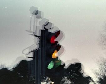 "Traffic Lights 9""x6"" print"