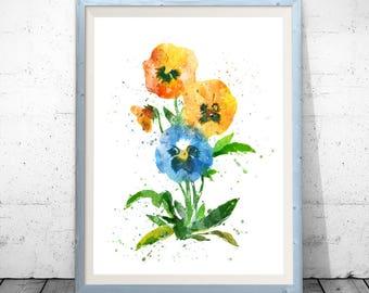 Flower Art, Wall Art, Wall Decor, Flower Art Print, Botanical Art, Flower Poster, Floral Wall Art, Flower Painting, Flower Illustration