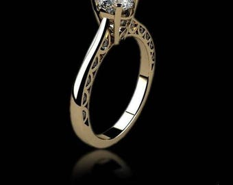 engagement ring, gold ring with diamonds, diamonds ring