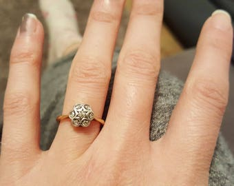 Antique Daisy Cluster Ring