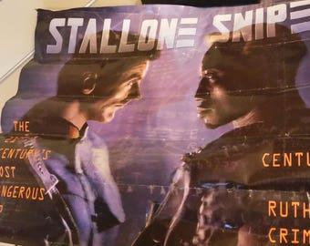 Demolition Man Poster, Wesley Snipes & Stallone 1993 Warner Bros. Movie Futuristic