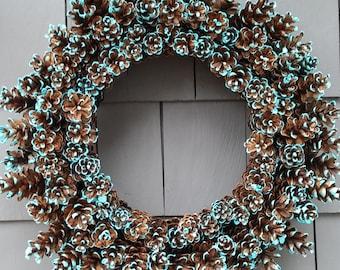 Pinecone Wreath Paradise Sky Blue / Home Decor