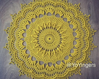 Handmade Crochet Heirloom Centrepiece Doily - Wendy by Emilyandthe 100% cotton
