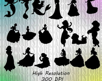 Disney princess svg, Disney princess eps, Disney princess silhouette, Disney princess , silhouette files