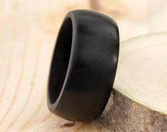 Ebony wood ring - wooden ring - all sizes