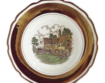 Vintage Gray's Pottery Wayside Inn Collector Plate