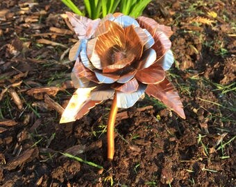 Copper and Stainless Steel Rose